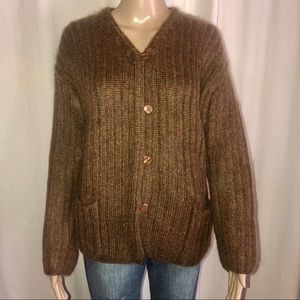 Express Tricot mohair blend buttoned sweater